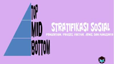 Pengertian Stratifikasi Sosial, Proses, Faktor, Jenis